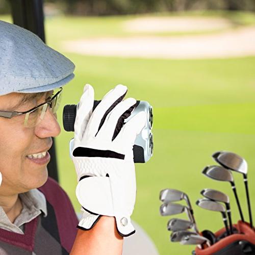 SereneLife Rangefinder Golf Distance Meter Adjustable Manual Lens Focus Handheld Design - & Mode