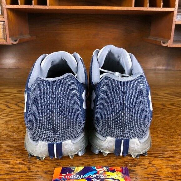 Under Spieth Gore-Tex Golf Shoes White/Navy 3000165-101