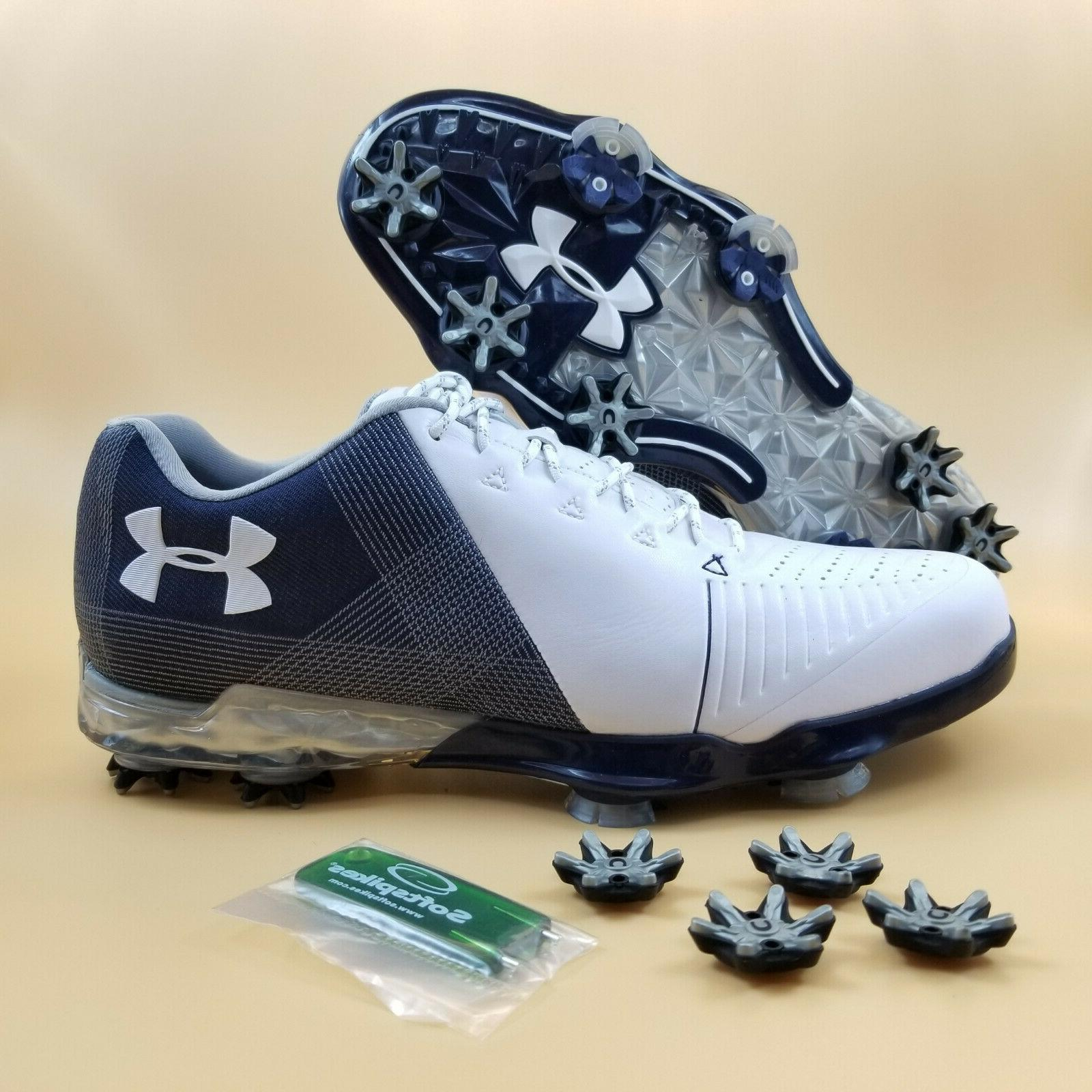 UNDER ARMOUR SPIETH 2 Men's Golf Shoes White/Blue Size 8 300