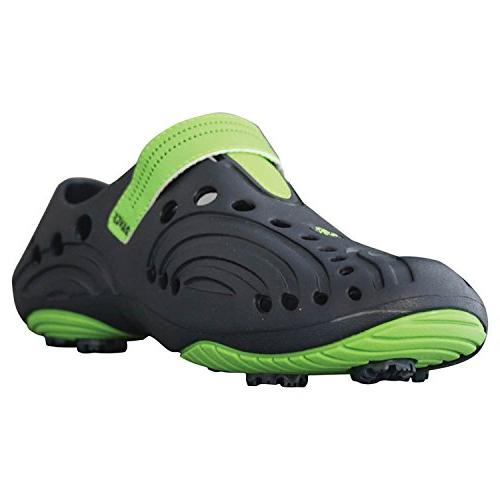 Men's Dawgs Spirit Golf Shoes Navy Lime Green Size 15