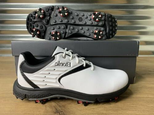 stabilite golf shoes eg white black waterproof