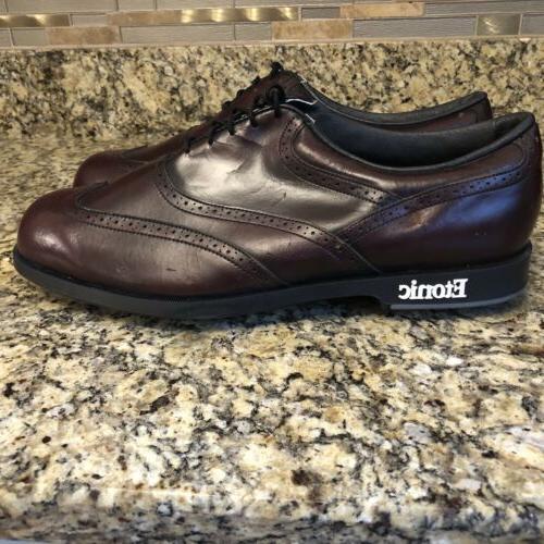 Etonic Stabilizer Men's Wing Tip Brogue Golf Shoes 13
