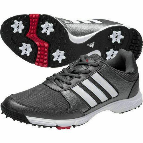 Adidas Tech Response 4.0 Golf Shoes Mens  New - Metallic/Whi