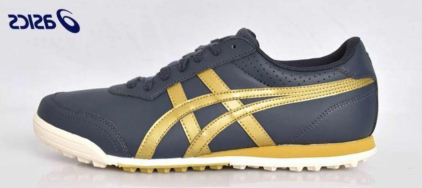 TGN915-5894 Gel PreShot Men Golf Shoes Sneakers Navy Gold H