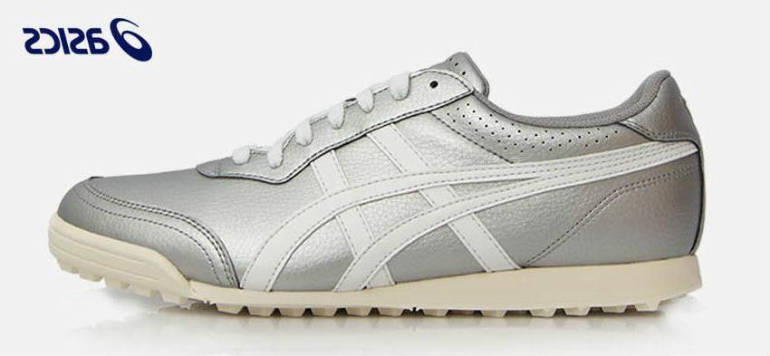 TGN915-9301 Gel PreShot Men Golf Shoes Sneakers Silver Whit