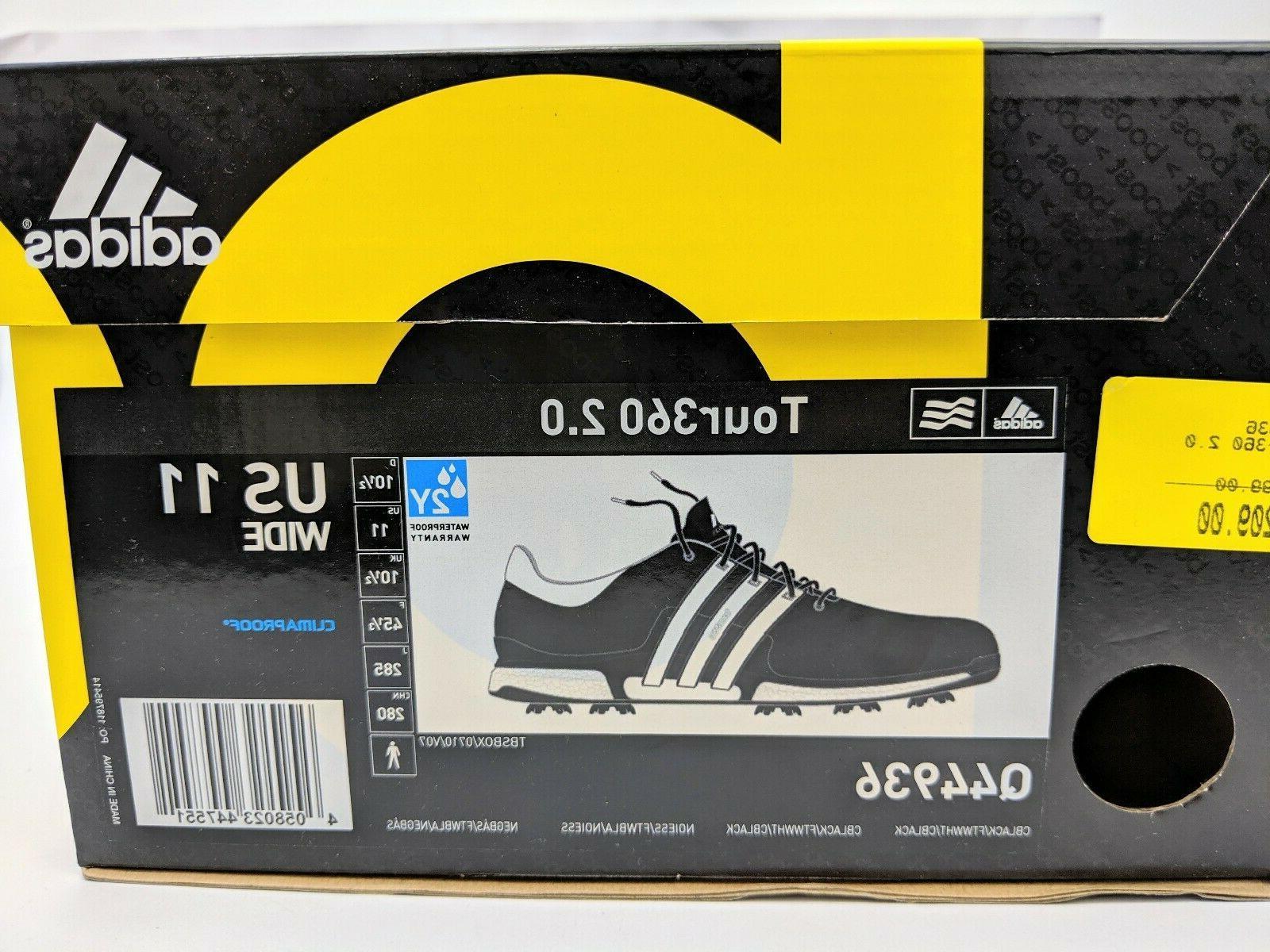Adidas Mens US 11 Wide Black Waterproof Shoes Boost UK 10.5