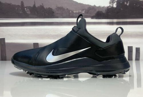 Nike Premiere Golf Shoes Cleats Black Silver Size 13