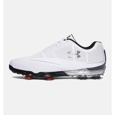 Under Armour Tour Tips Golf Shoes - White/Silver