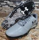 Under Armour UA Match Play Mens Golf Cleats Shoes Sz-14 Grey