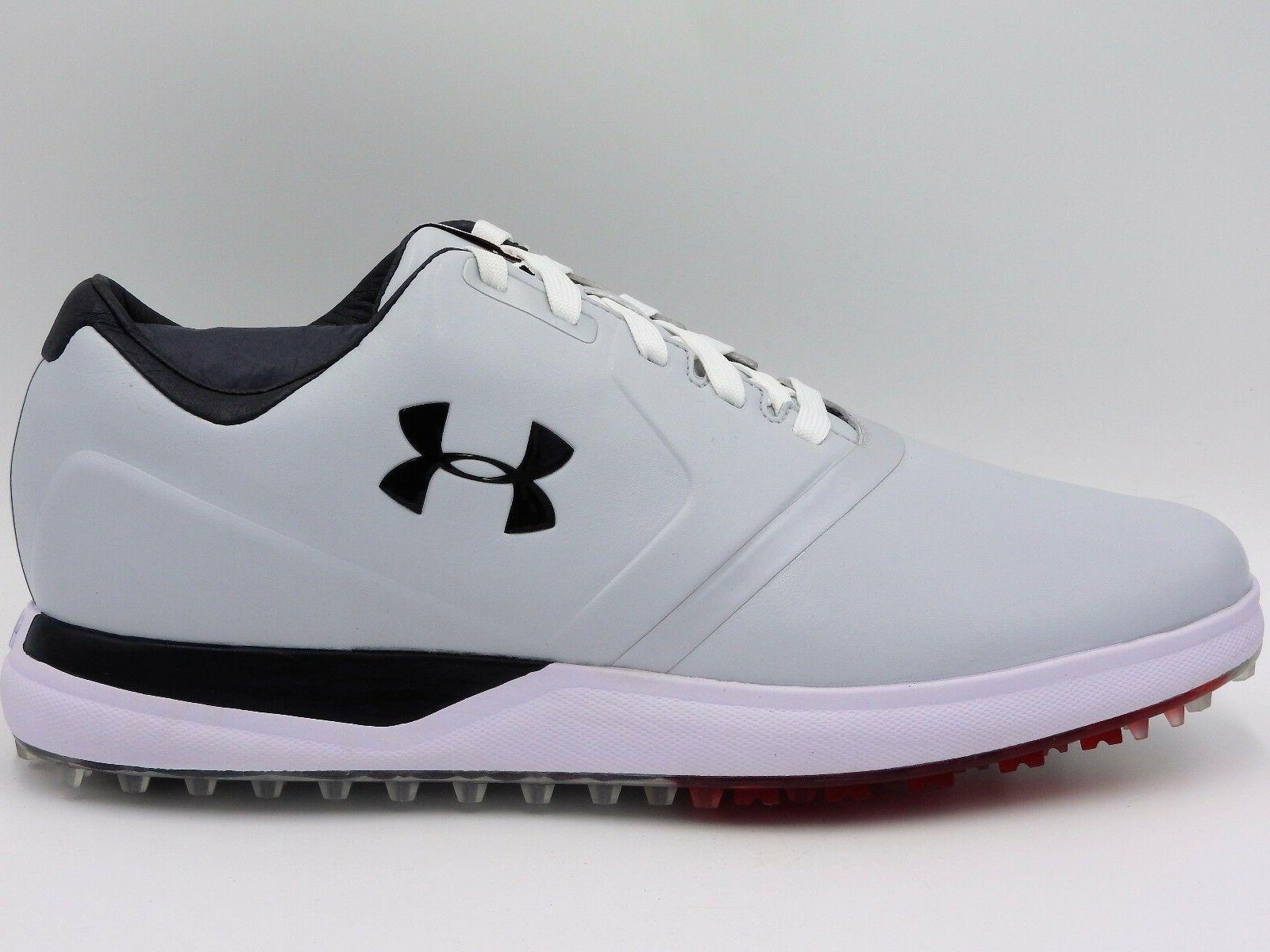 UA Under Armour Performance SL Golf Shoes,1297177-101,White,