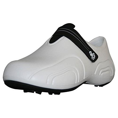 DAWGS Women's Ultralite Golf Shoes WHITE WITH BLACK 11 M US
