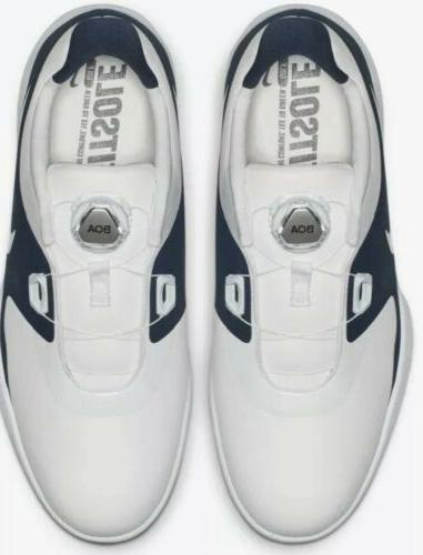 Nike Vapor Golf Shoes White/Navy AQ1789-101 NWOB
