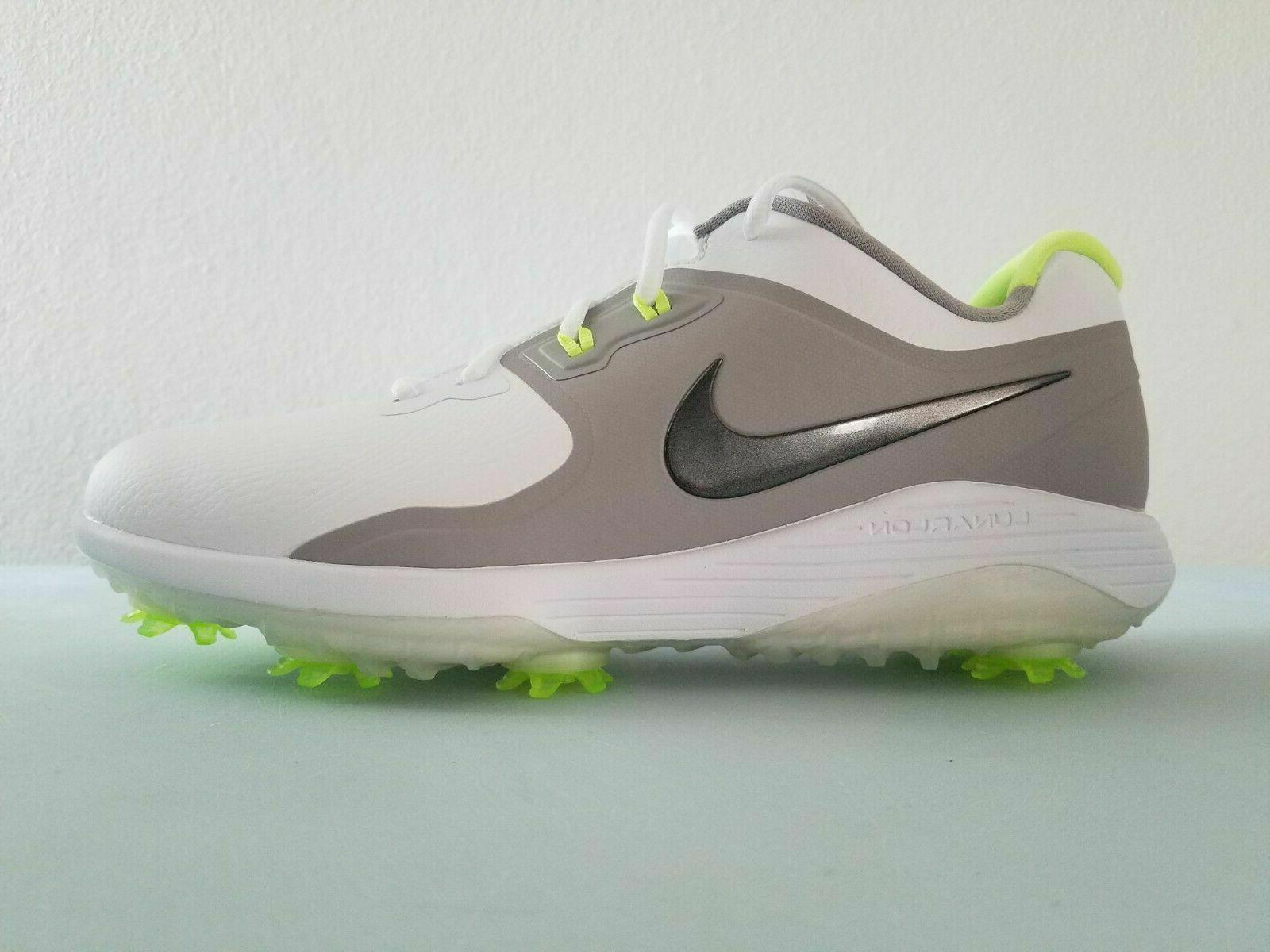 NIKE VAPOR PRO GOLF SHOES MENS SIZE 10 WHITE GREY VOLT AQ219