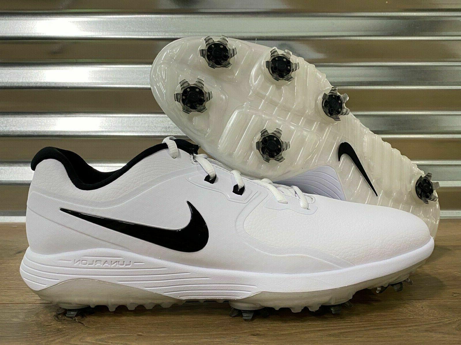 Nike Vapor Pro Golf Shoes White Black Lunarlon Authentic New