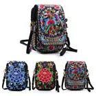 Women Crossbody Bag Floral Cellphone Bag Mini Purse Retro Em