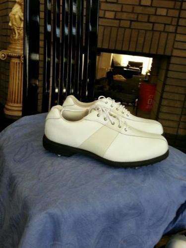Women Etonic Golf Shoes 7.5 NIB  COLOR CREAM WHITE AND WHITE