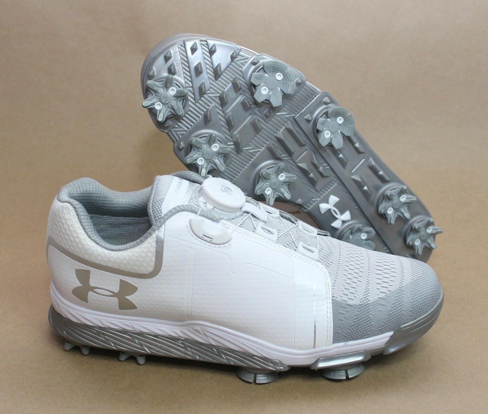 Under Armour UA Golf Shoes White 1292782-100 Size 6.5