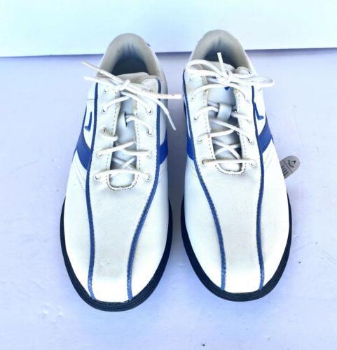 Women's 6.5 White Blue -