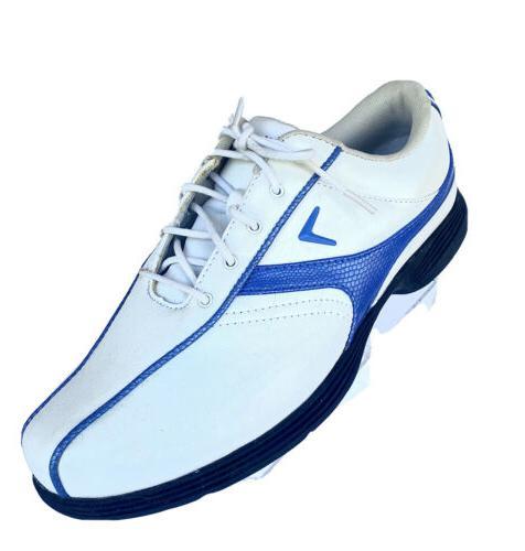 womens golf size 6 5 white blue