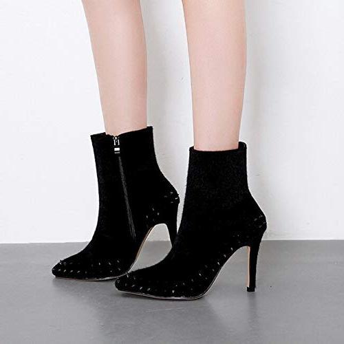 XoiuSyi Casual Women Pointed Side High Boots Fashion