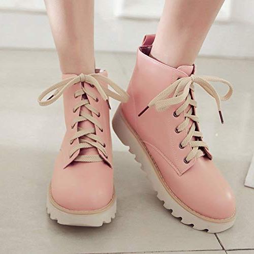 XoiuSyi Womens High-Top Shoes Lace-Up