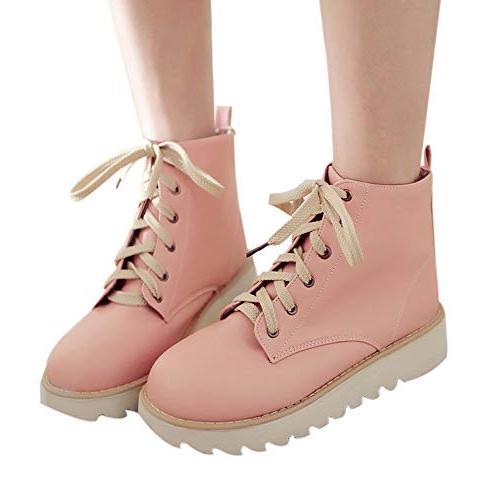 XoiuSyi Womens Light Color High-Top Sports Shoes Flats
