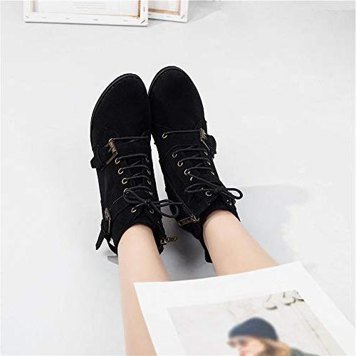 High Heel Lace-Up Boots Boots Heel