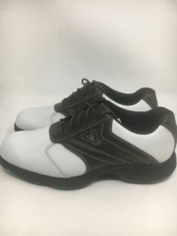 ETONIC Leather Golf Shoes- Brown & White Saddle MEN'S SIZE 8