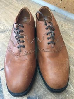 Allen Edmonds Linwood Tan Leather Golf Shoes - Sz 10.5 D - S