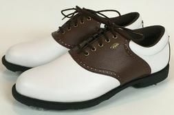 Etonic Lites 100 mens golf cleats 8.5M brown white saddle Q