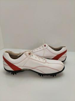 FOOTJOY LoPro Women's Golf Shoes White w/ Red Size 7.5M