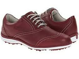 Footjoy LoPro Womens Golf Shoes Ruby Red Soft Spikes 5 Mediu