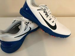 Nike Lunar Command 2 Golf Shoes Cleats White Blue Mens Size