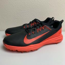 Nike Lunar Command 2 Golf Shoes Orange Black 849968-001 Men'