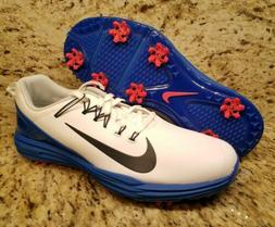 Nike Lunar Command 2 Golf Shoes White Blue New Mens Size 10