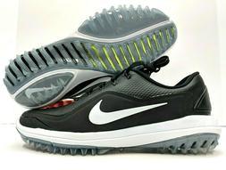 Nike Lunar Control Vapor 2 Mens Golf Shoes Black White Cleat