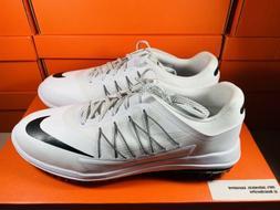 Nike Lunar Control Vapor Golf Shoes White Black Men's Sz 10.