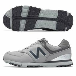 New Balance Men's 574 SL Golf Shoe, Grey/Silver, 10.5 4E US