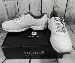 FootJoy Men's Athletics Spikeless Lace up Golf Shoes White 1