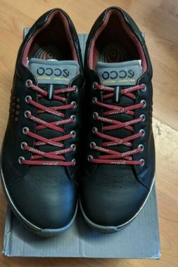 Men's Ecco BIOM Hybrid 2 Hydromax Golf Shoes Black/Brick Siz