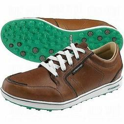 Ashworth Men's Cardiff ADC Golf Shoes Brown/Brown/Green 14