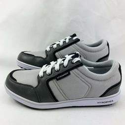 Ashworth Men's Cardiff ADC Spikeless Golf Shoes Pebble/Dark
