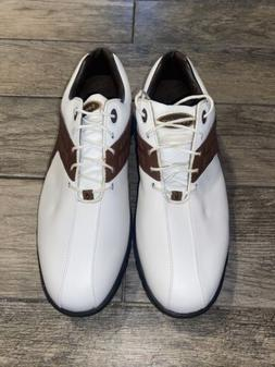 FootJoy Men's Contour Series FJ Golf Shoes 54123 White Brown