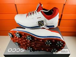 Ecco Men's Cool 18 GTX Gore-Tex Golf Shoes White Red Blue Sz
