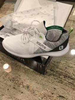 FootJoy Men's FJ Flex Golf Shoes - 10 - 56101 - White - NEW