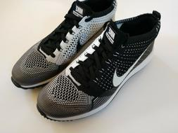 Nike Men's Flyknit Racer G Golf Shoes Black White Oreo 90975
