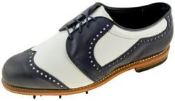 Allen Edmonds Men's Fort Worth 2.0 Golf Shoe Navy White Styl