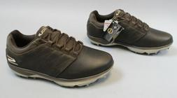 Skechers Men's GOgolf Pro 4 LX Leather Shoe HD3 Chocolate 54