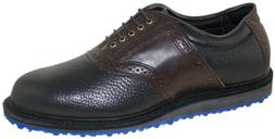 Allen Edmonds Men's Golf Shoe Black Brown Style 6525 42452