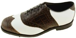 Allen Edmonds Men's Golf Shoe Brown and White Style 1091 252